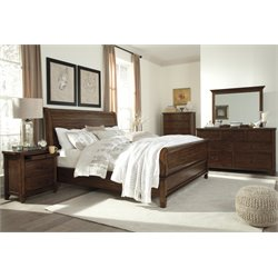 Ashley Chaddinfield 5 Piece California King Sleigh Bedroom Set