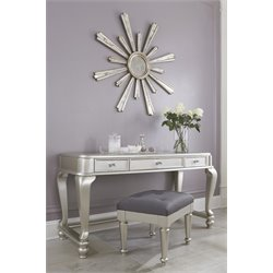 Ashley Coralayne 2 Piece Bedroom Vanity Set in Silver