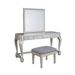 Ashley Coralayne 3 Piece Bedroom Vanity Set in Silver