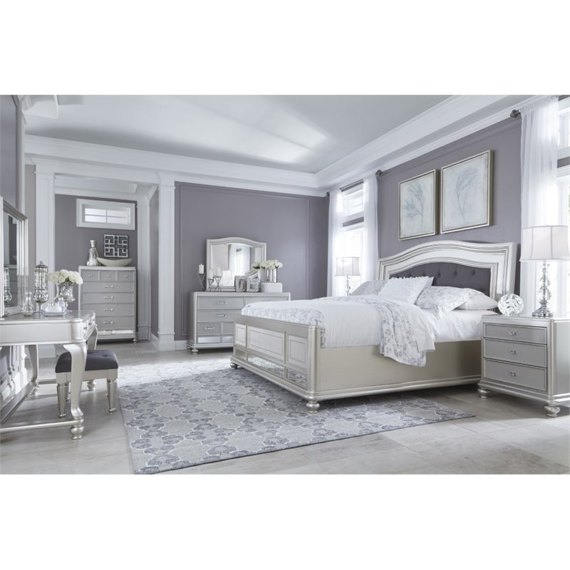 Excellent Upholstered King Bedroom Set Decoration