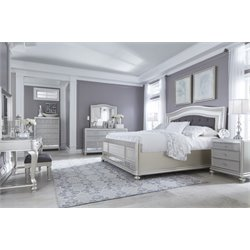 Ashley Coralayne 8 Piece Upholstered Bedroom Set in Silver