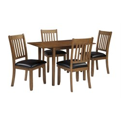 Ashley Joveen 5 Piece Dining Set in Light Brown