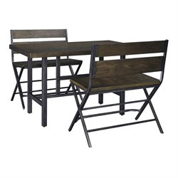 Ashley Kavara 3 Piece Counter Height Dining Set in Medium Brown