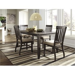 Ashley Dresbar 5 Piece Dining Set in Grayish Brown