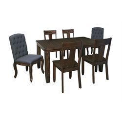Ashley Trudell Dining Set in Dark Brown