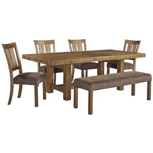Ashley Tamilo Dining Set in Gray and Brown