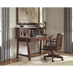 Ashley Wassner Computer Desk with Chair in Dark Brown