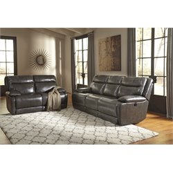 Ashley Palladum 2 Piece Sofa Set in Metal