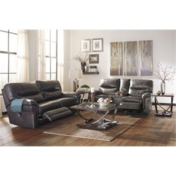 Ashley Banetonville 2 Piece Sofa Set in Metal