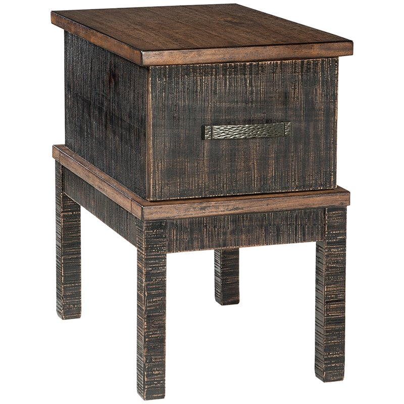 Ashley Furniture Stanah 1 Drawer End Table with USB Ports in Brown