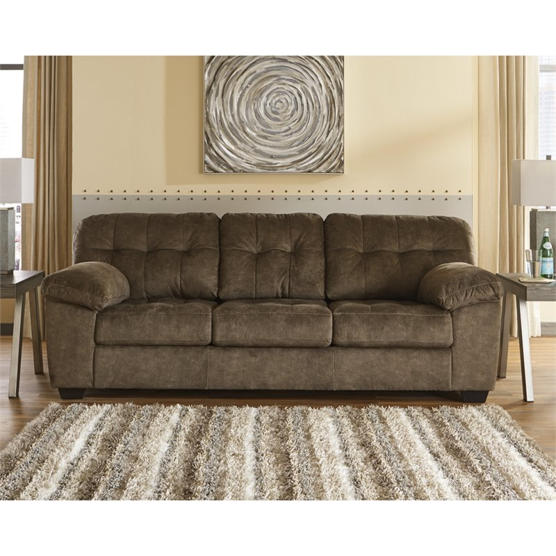 Signature Design by Ashley Accrington Queen Sleeper Sofa in Earth