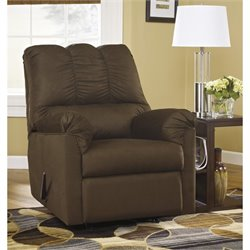 Signature Design by Ashley Furniture Darcy Rocker Recliner in Cafe