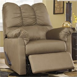 Ashley Furniture Darcy Rocker Recliner in Mocha