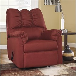 Ashley Furniture Darcy Rocker Recliner in Salsa