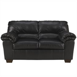 Ashley Furniture Commando Loveseat in Black Leather