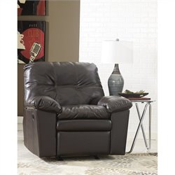 Signature Design by Ashley Furniture Jordon Rocker Recliner in Java