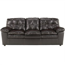 Signature Design by Ashley Furniture Jordon Leather Sofa in Java
