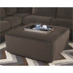 Ashley Furniture Jessa Place Oversized Ottoman in Chocolate