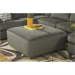 Ashley Furniture Jessa Place Oversized Ottoman in Pewter