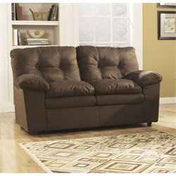 Ashley Furniture Mercer Loveseat in Cafe