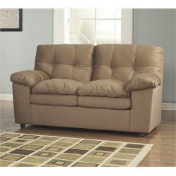 Ashley Furniture Mercer Loveseat in Mocha