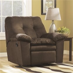 Ashley Furniture Mercer Rocker Recliner in Cafe