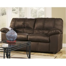 Ashley Furniture Dominator Loveseat in Cafe