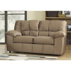 Ashley Furniture Dominator Loveseat in Mocha