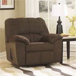 Ashley Furniture Dominator Rocker Recliner in Cafe