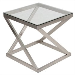 Ashley Furniture Coylin End Table in Brushed Nickel