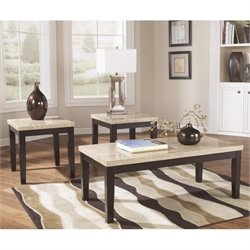 Signature Design by Ashley Furniture Wilder 3 Piece Occasional Table Set in Dark Brown