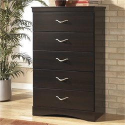 Signature Design by Ashley Furniture X-cess 5-Drawer Chest in Merlot