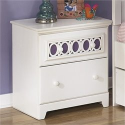 Signature Design by Ashley Furniture Zayley 2-Drawer Nightstand in White