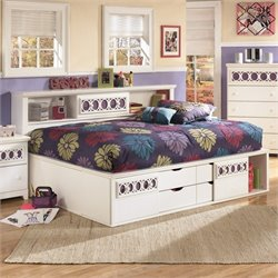Signature Design by Ashley Furniture Zayley Captain's Bed in White - Twin