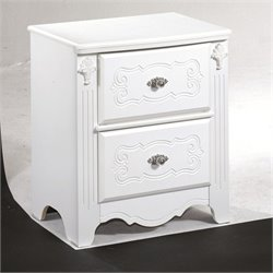 Signature Design by Ashley Furniture Exquisite 2-Drawer Nightstand in White