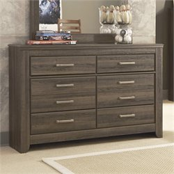 Ashley Furniture Juararo 6-Drawer Youth Dresser in Dark Brown