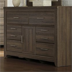 Signature Design by Ashley Furniture Juararo 6-Drawer Dresser in Mocha in Dark Brown