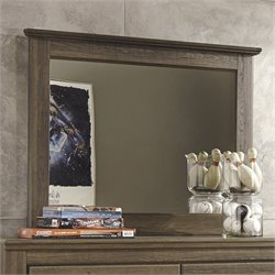 Signature Design by Ashley Furniture Juararo Bedroom Mirror in Dark Brown