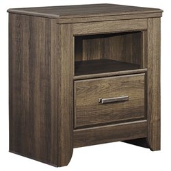 Signature Design by Ashley Furniture Juararo 1-Drawer Nightstand in Dark Brown