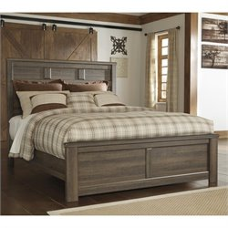 Signature Design by Ashley Furniture Juararo Panel Bed in Dark Brown - Twin