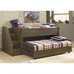 Ashley Furniture Juararo Loft Bed with Caster Bed in Dark Brown