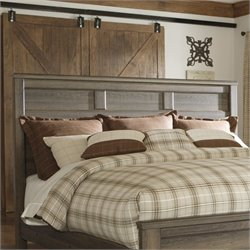 Signature Design by Ashley Furniture Juararo Panel Headboard in Brown - Full