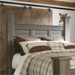 Signature Design by Ashley Furniture Juararo Poster Headboard in Dark Brown - Queen