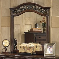 Signature Design by Ashley Furniture Leahlyn Bedroom Mirror in Warm Brown
