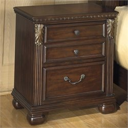Signature Design by Ashley Furniture Leahlyn 3-Drawer Nightstand