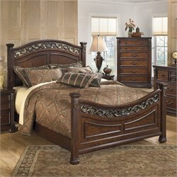 Signature Design by Ashley Furniture Leahlyn Panel Bed in Warm Brown - Queen