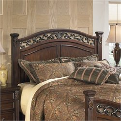 Signature Design by Ashley Furniture Leahlyn Panel Headboard in Brown - California King-King