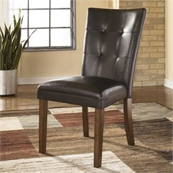 Signature Design by Ashley Furniture Lacey Upholstered Dining Side Chair in Medium Brown