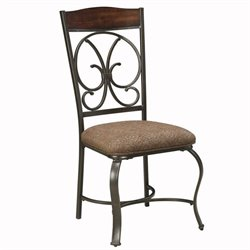 Signature Design by Ashley Furniture Glambrey Upholstered Dining Side Chair in Brown
