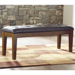 Ashley Furniture Ralene Dining Room Bench in Medium Brown